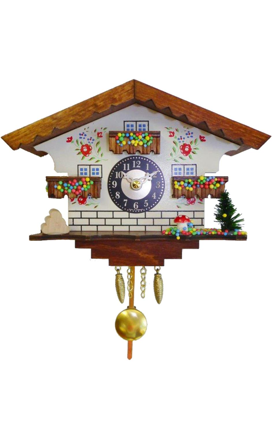 0183QP - Engstler Battery-operated Clock - Mini Size with Music/Chimes - 5.75