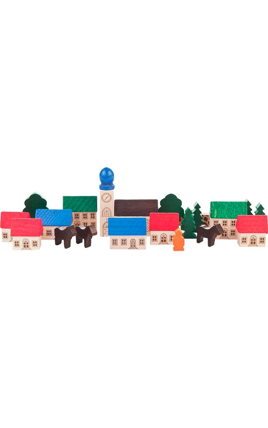 044-004 - Dregeno Wooden Toy - Mountain Village - 3.5