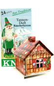 Knox Metal Incense House - Gingerbread motif
