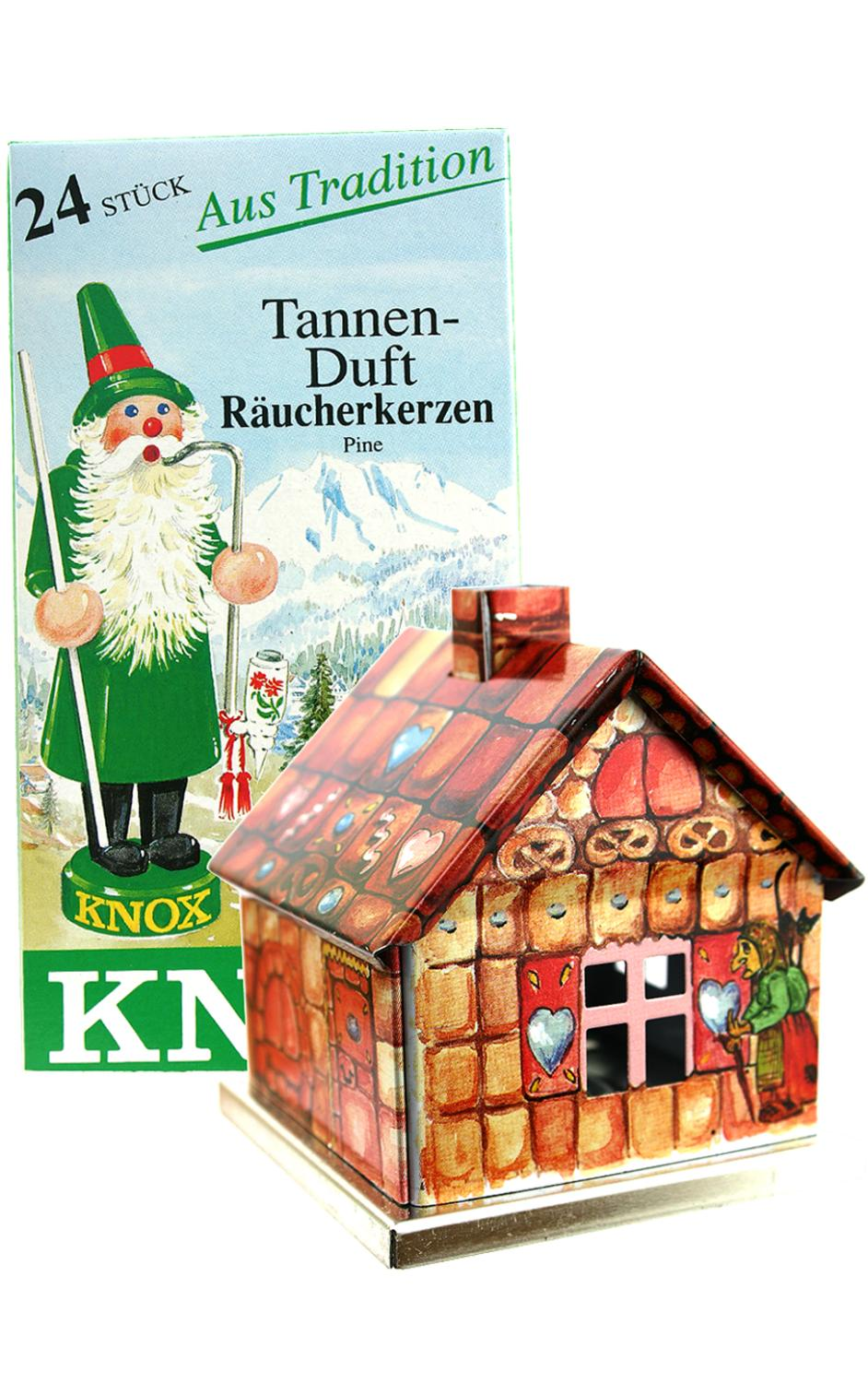 078510G - Knox Metal Incense House - Gingerbread motif - 5