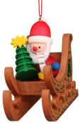 10-0575 - Christian Ulbricht Ornament - Santa Sled - 2.75