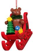 10-0576 - Christian Ulbricht Ornament - Teddy Sled - 2.75
