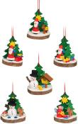 Christian Ulbricht Ornament - Assorted Treeslice (Set 6)