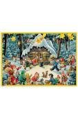 10101 - Korsch Advent - Santa with Children - 11.5
