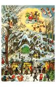 10391 - Korsch Advent - Snowy Village Scene - 11.75