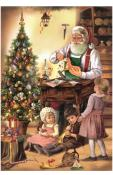 10441 - Korsch Advent - Woodworking Santa with Children - 11.75