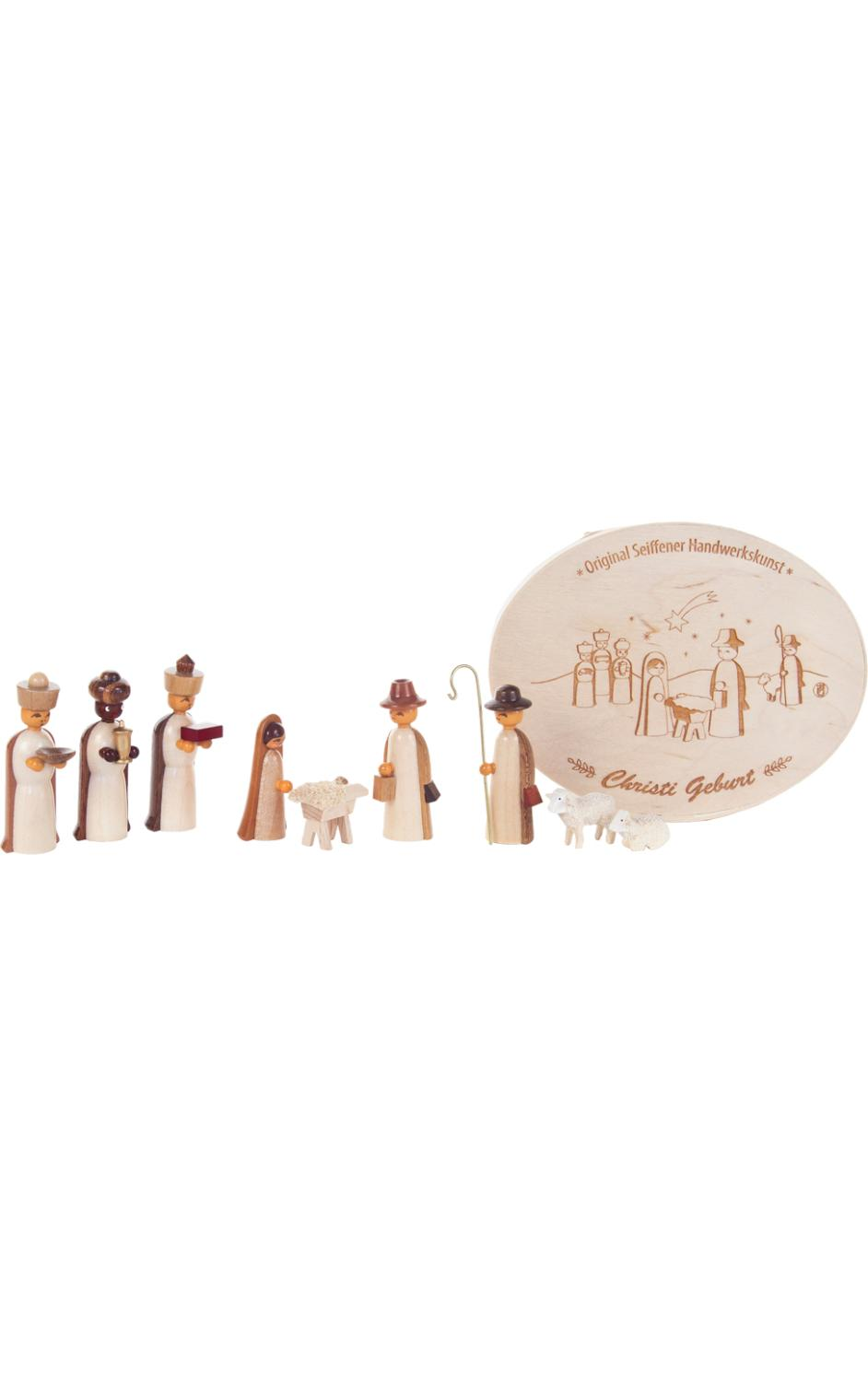 225-263NS - Dregeno Chip Box - Natural Nativity with 3 Wise Men - 2