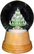 Perzy Snowglobe - Medium Christmas tree with wooden base