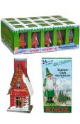 Knox Metal Incense Houses with Incense  - Assorted set 15 pieces