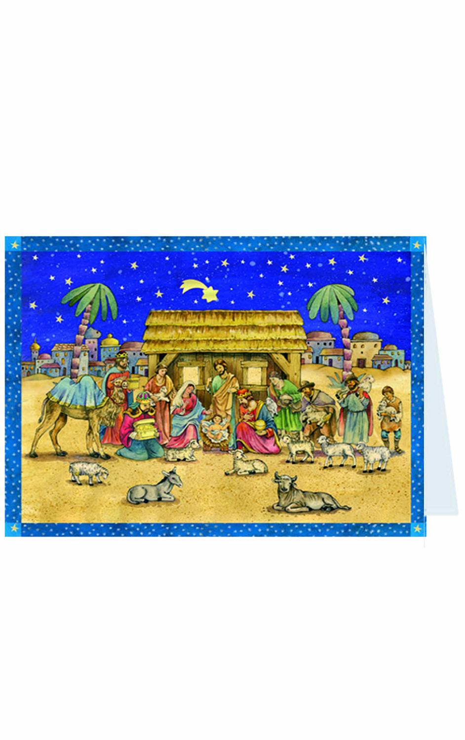 ADV40106 - Sellmer Advent Postcard - Nativity - 4.5