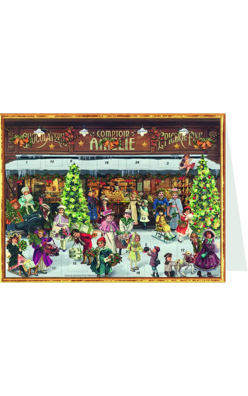 ADV40130 - Sellmer Advent Postcard - Victorian Living Room - 4.5