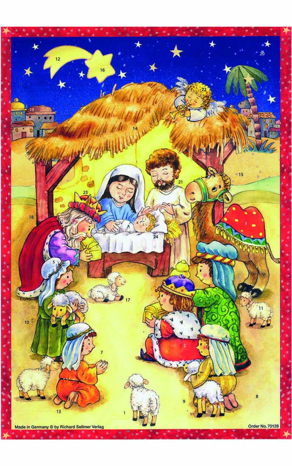 ADV70128 - Sellmer Advent - Manger Scene - 14.5