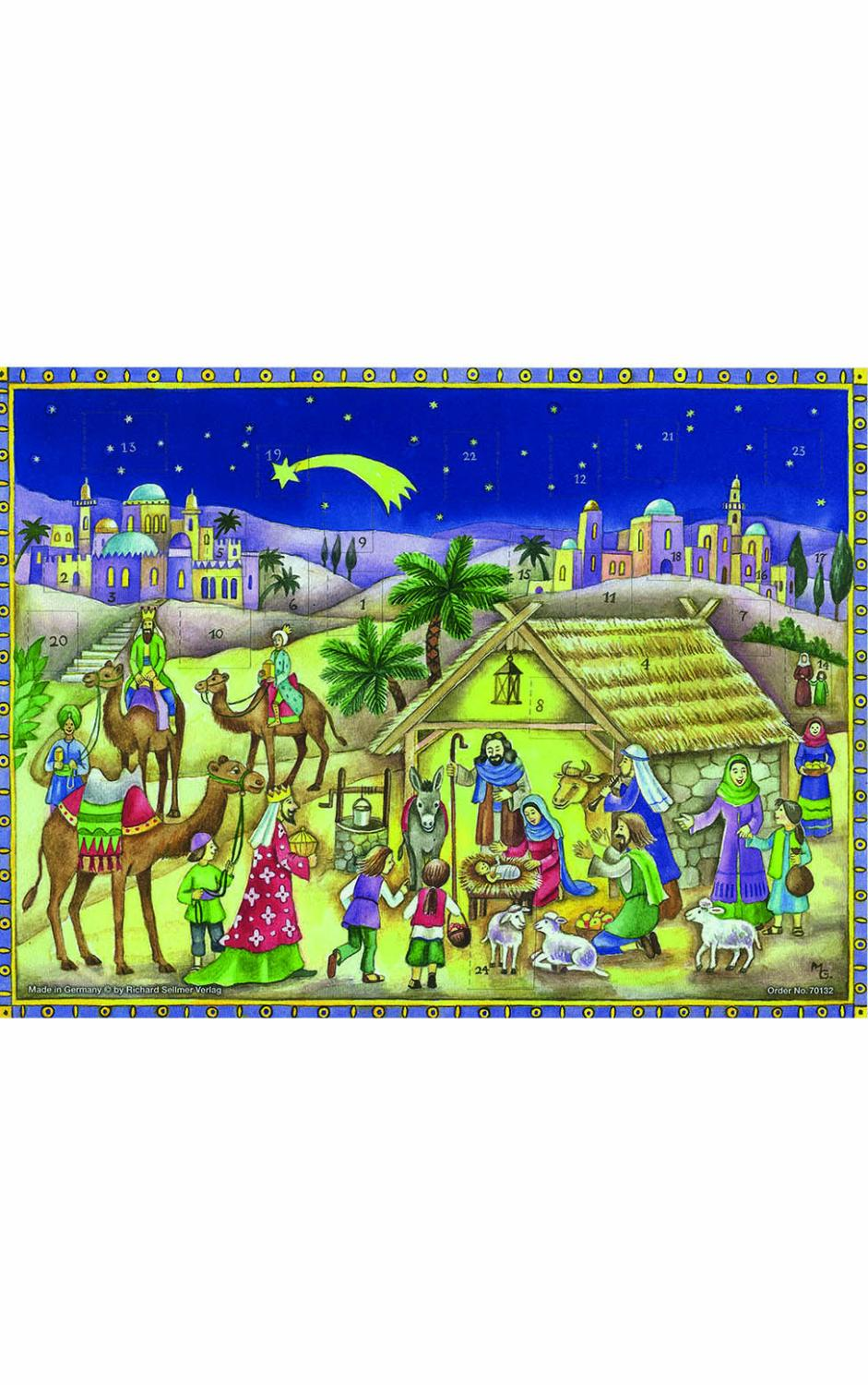 ADV70132 - Sellmer Advent - Bethlehem Scene - 10.5