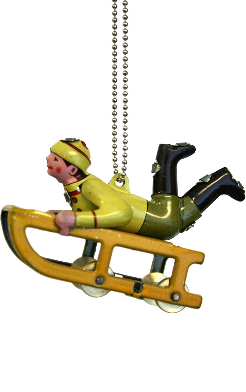 MM275 - Collectible Tin Ornament - Sledder - 2