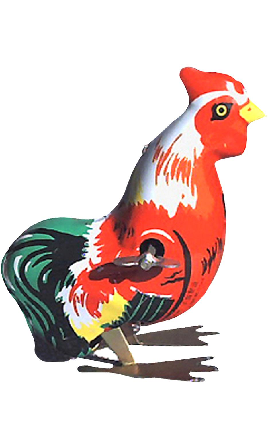 MS205 - Collectible Tin Toy - Hopping Rooster - 3