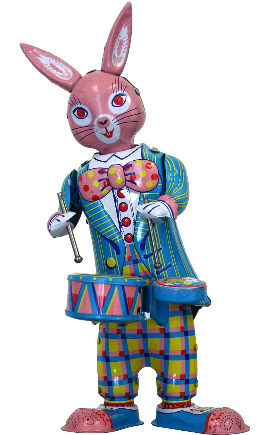 Collectible Tin Toy - Bunny with Drums