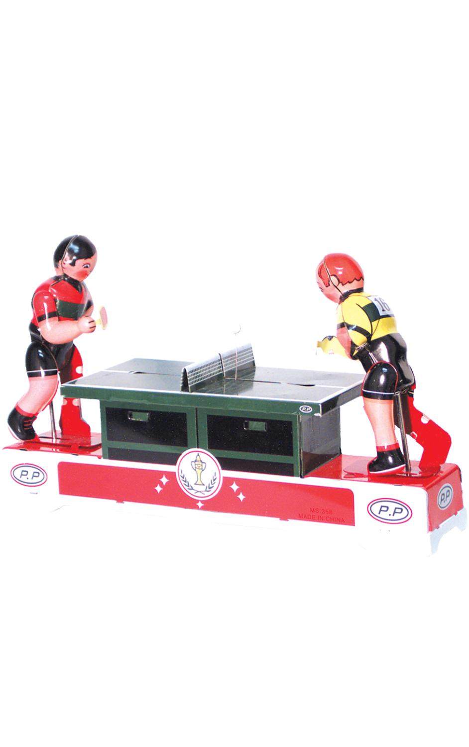 MS358 - Collectible Tin Toy - Ping Pong Players - 5