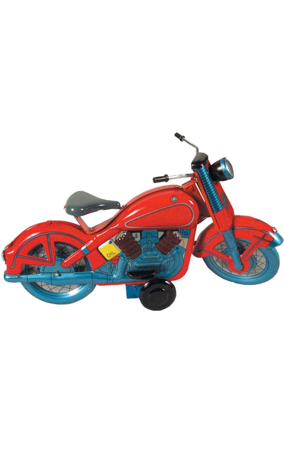 MS359 - Collectible Tin Toy - Motorcycle - 5