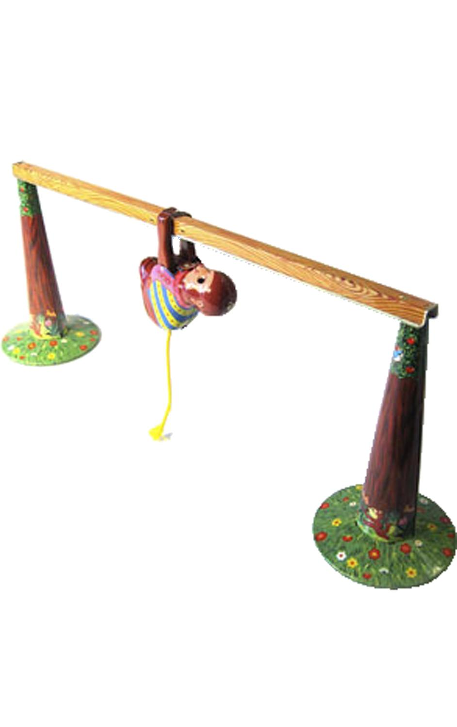 MS443 - Collectible Tin Toy - Monkey on Bar - 4