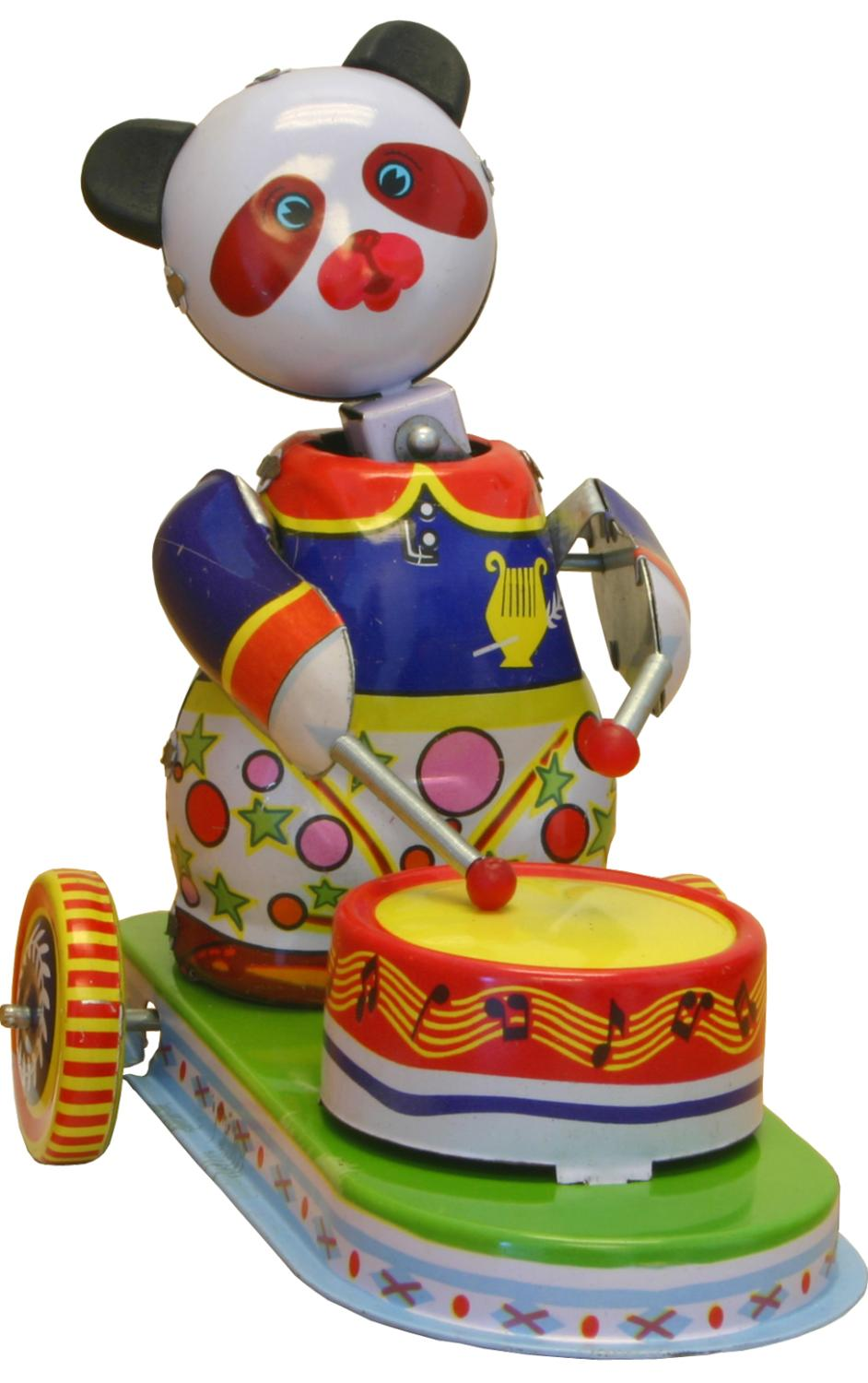 MS565 - Collectible Tin Toy - Panda Drummer - 5