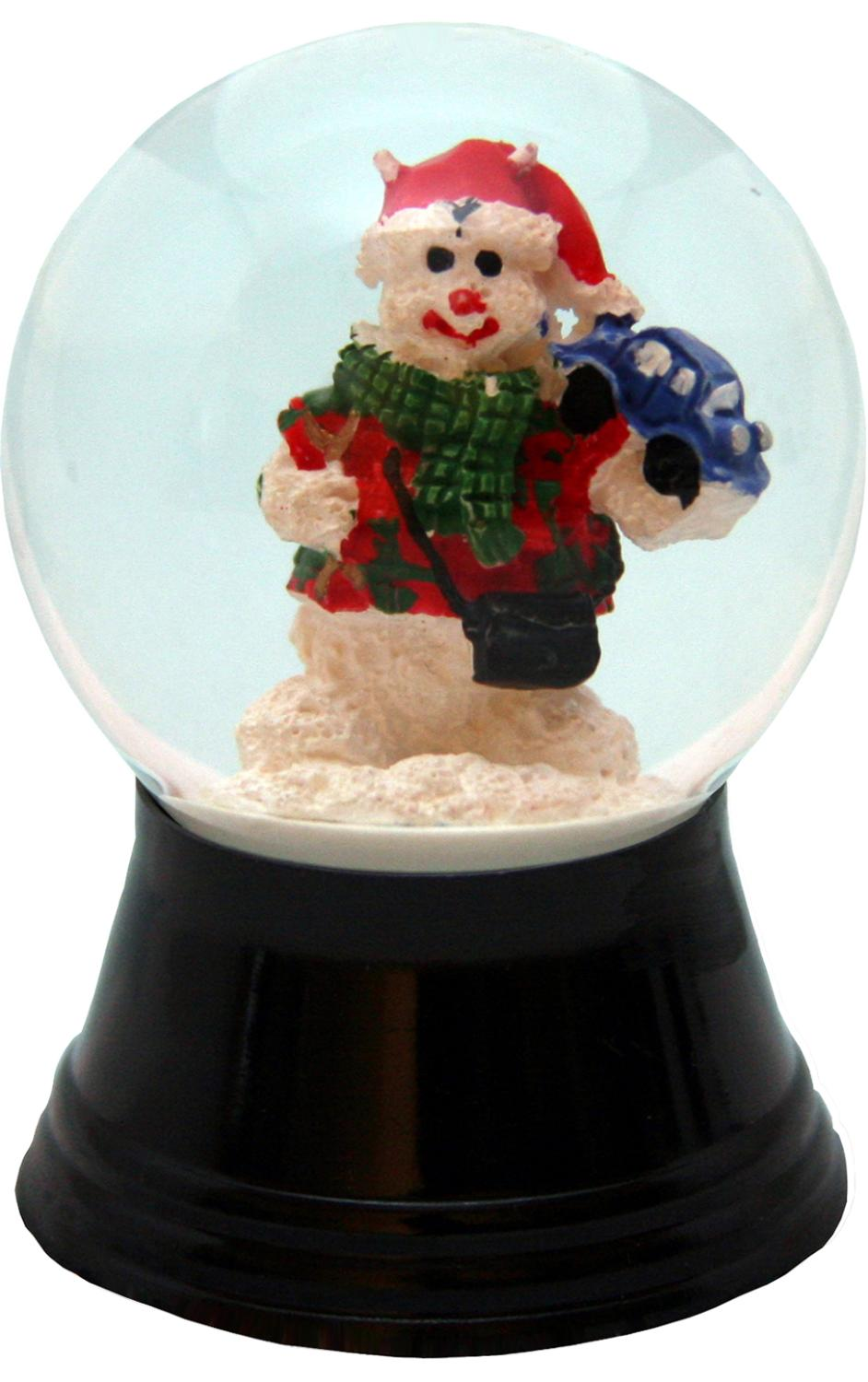 PR1219 - Perzy Snowglobe, Small Santa with Teddy - 2.5