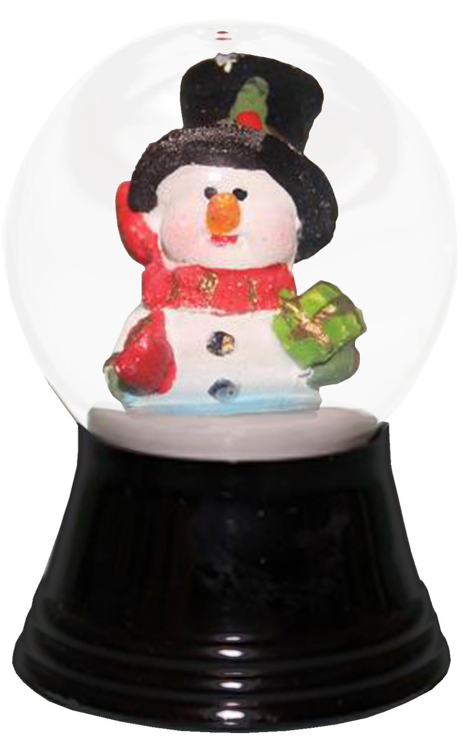 PR1280 - Perzy Snowglobe, Small Snowman with Scarf - 2.5
