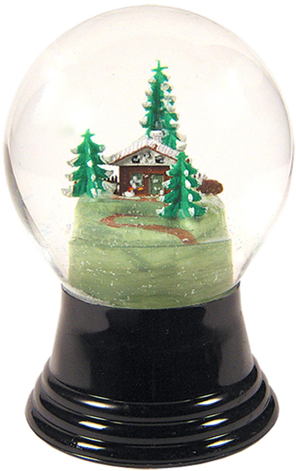 PR1409 - Perzy Snowglobe, Medium Chalet with Tree - 5