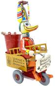 RM280 - German Collectible Tin Toy - Fireman Duck - 8.5